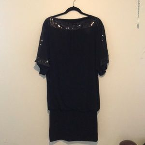 "Dresses & Skirts - B""leev Sexy Black Sequin Dress"